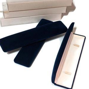 3 Blue Velvet Bracelet Watch Boxes NIB Satin Lined